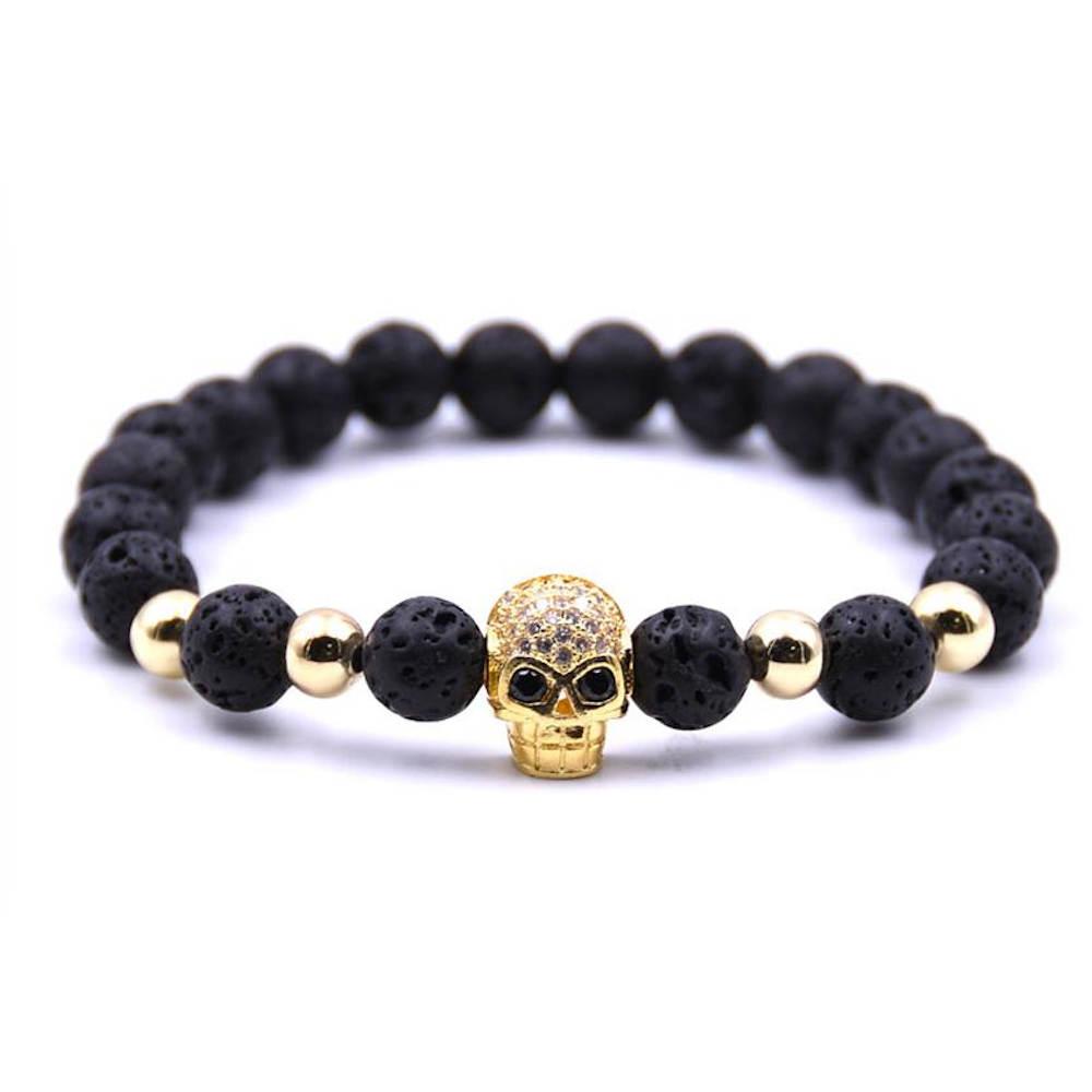 Beaded bracelet and skull